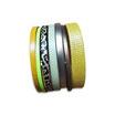 Bracelet manchette en cuir JOA by RISTMIK jaune et doré- ref202056