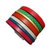 Bracelet manchette en cuir JOA by RISTMIK multicolore - ref202075