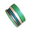 Bracelet manchette en cuir JOA by RISTMIK vert- ref202057