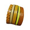 Bracelet manchette en cuir JOA by RISTMIK jaune- ref202065