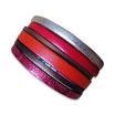 Bracelet manchette en cuir JOA by RISTMIK rouge et doré- ref202078