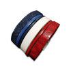 Bracelet manchette en cuir JOA by RISTMIK Bleu Blanc rouge - ref202052