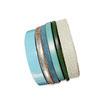 Bracelet manchette en cuir JOA by RISTMIK bleu- ref202063