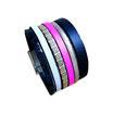 Bracelet manchette en cuir JOA by RISTMIK Multicolore - ref202055