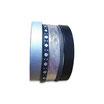Bracelet manchette en cuir JOA by RISTMIK Noir et argent - ref202051