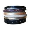 Manchette en cuir JOA by RISTMIK noir- ref202042
