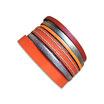 Bracelet manchette en cuir JOA by RISTMIK Orange et doré - ref202054