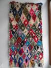 Marokkanischer Boucherouite Teppich, 200x106cm