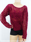 Top Crochet Velours