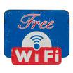 Free WiFi - Blau & Rot