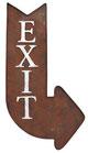 Exit Sign Rechts - Rust-Look