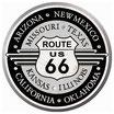 Route 66 Metallschild rund