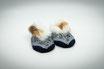 Glarner Finken Grösse 21-23 dunkelblau mit rutschfester Noppensohle