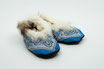 Glarner Finken Grösse 21 -23 hellblau mitrutschfester Noppensohle