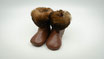 Leder - Finken Grösse 9 - 12 Monate mit rutschfester Noppensohle
