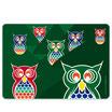 – Brettchen aus Glas  – owl