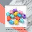 Abalorio de plástico tubo colores vivos 169102 (40 unidades)