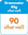 Briefpapier DIN A4 - 90g - 4/0-fbg.