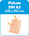 Plakate - A2 - 80g Neon-Gelb - 1s