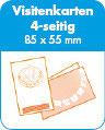Klappvisitenkarten quer - 55x85 - 350g matt - 4s