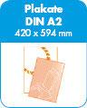 Plakate - A2 - 80g Neon-Grün - 1s