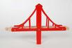Hängebrücke rot