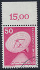 BRD 851 gestempelt mit Bogenrand oben (RWZ 15,00)
