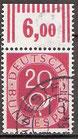 130 gestempelt mit Bogenrand oben (RWZ 6,00) (BRD)
