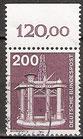 BRD 858 gestempelt mit Bogenrand oben (RWZ 120,00)