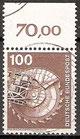 BRD 854 gestempelt mit Bogenrand oben (RWZ 70,00)