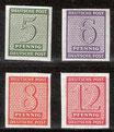 116DX-119DX postfrisch (SBZ)