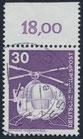BRD 847 gestempelt mit Bogenrand oben (RWZ 18,00)
