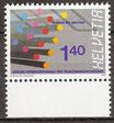 14 postfrisch mit Bogenrand unten  (CH-UIT/ITU)