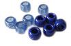 Kunststoffperlen in Blau / Perles bleu