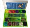 """Rainbow Loom® Geschenkset """"Grün"""" / Cadeau Girls """"vert"""""""