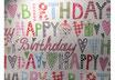 """Geschenkpapier / Papier à cadeau """"Happy Birthday"""""""