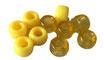 Kunststoffperlen in Gelb / Perles jaunes