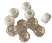 Kunststoffperlen in Weiss / Perles blancs
