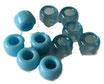 Kunststoffperlen in Hellblau / Perles bleu clair