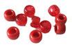 Kunststoffperlen in Rot / Perles rouges