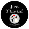 "Les Confettis géants ""Just Married"" Noir&Blanc"