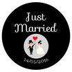 """Le Magnet """"Just Married"""" Noir&Blanc"""