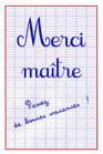 "Carte ""Merci Maître"""