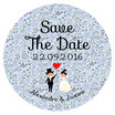 "Le Magnet ""Save The Date"" Liberty bleu"