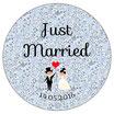"""Le Décapsuleur """"Just Married"""" Liberty bleu"""