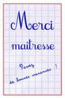 "Carte ""Merci Maîtresse"""