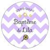 """Les Confettis géants """"Baptême"""" chevrons lilas"""