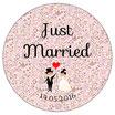 "Le Décapsuleur ""Just Married"" Liberty rose"