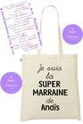 """Pack """"Cadeaux pour marraine"""" Lilas"""
