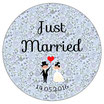 "Le Badge ""Just Married"" Liberty Bleu"